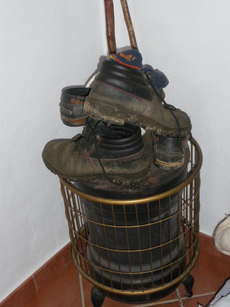 Botas en la estufa