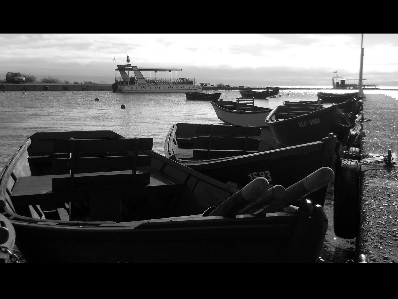 Botes en el lago