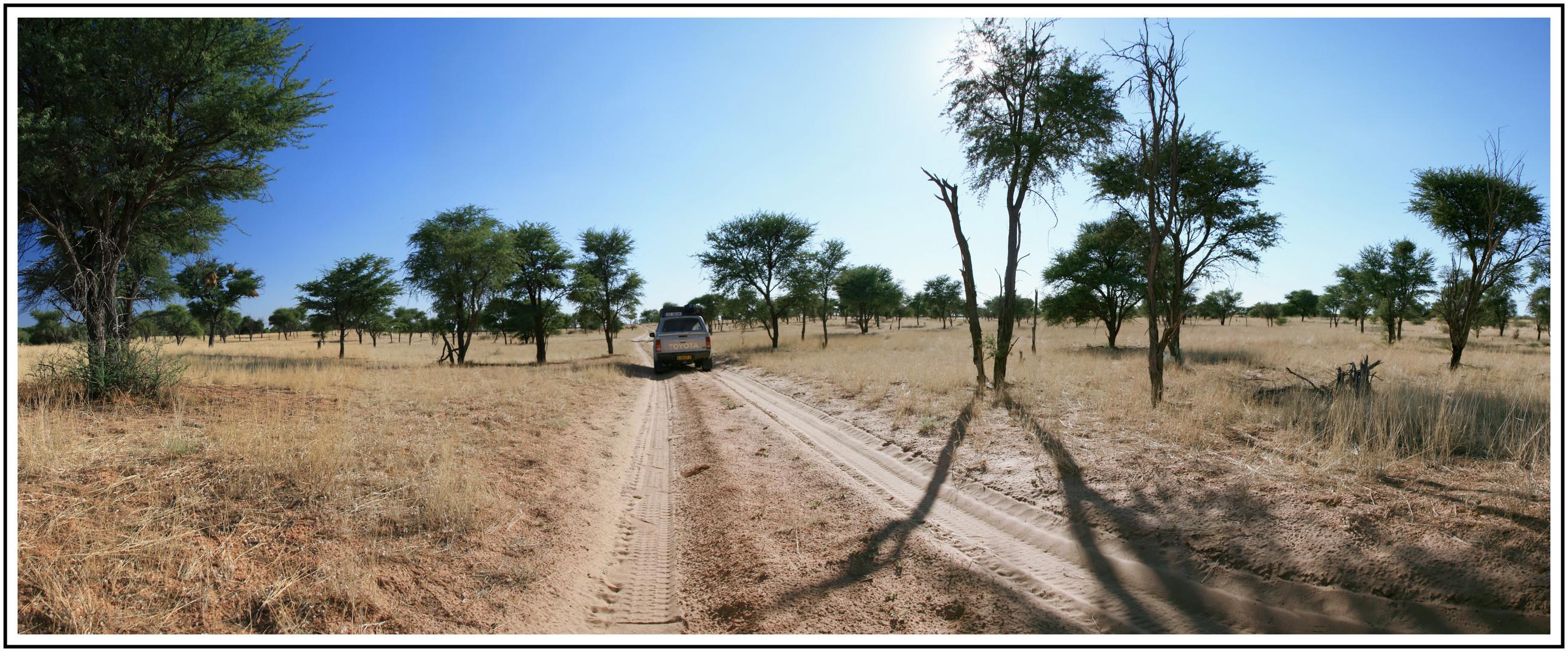Botswana - KTP Richtung Kaa Gate