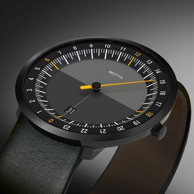 Botta-Design UNO 24 Einzeigeruhr mit 24-Stunden-Anzeige