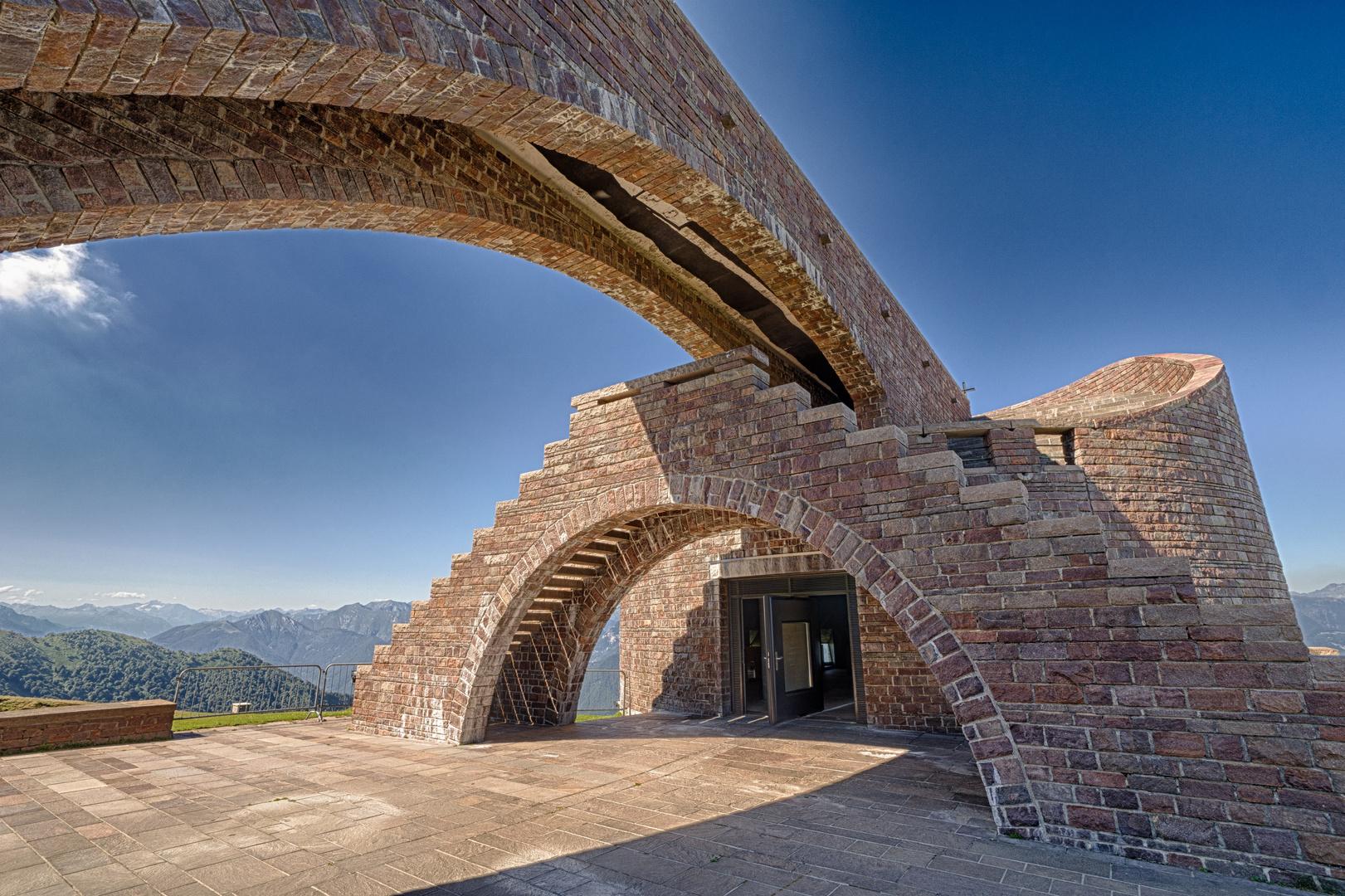 Botta Kirche auf dem Monte Tamaro 1