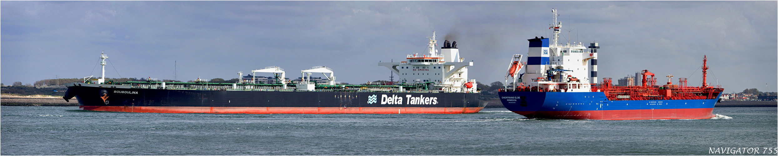 BOUBOULINA / Crude Oil Tanker / CHEMTRANS ELBE / Tanker / Rotterdam / Bitte scrollen!