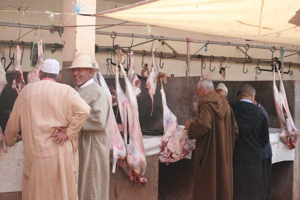 boucherie dans marché berbere