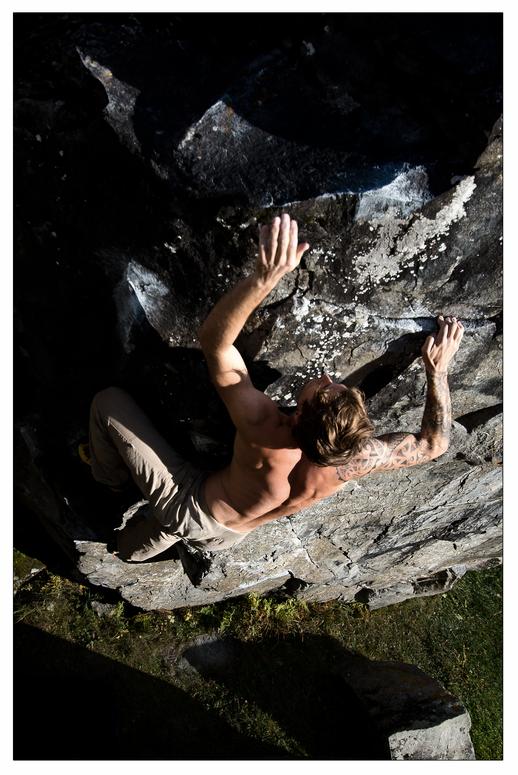Bouldern in der Herbstsonne II