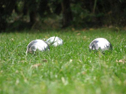Boule - auf Gras