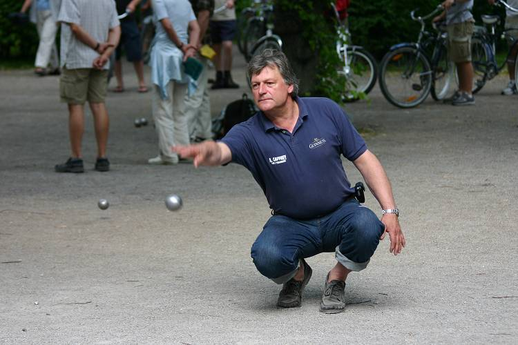 Boule-Spieler im Turnier