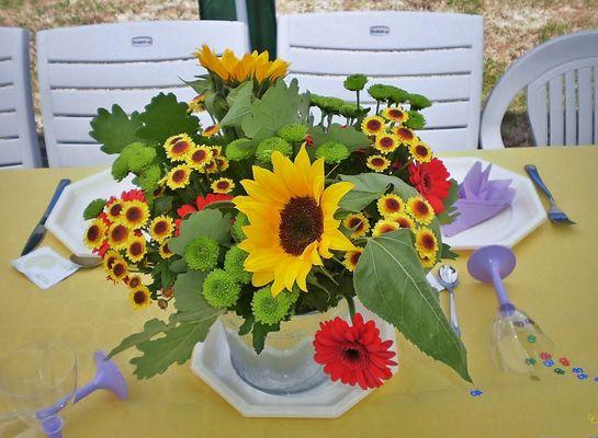 bouquet de fleures.......de vrai fleures.......