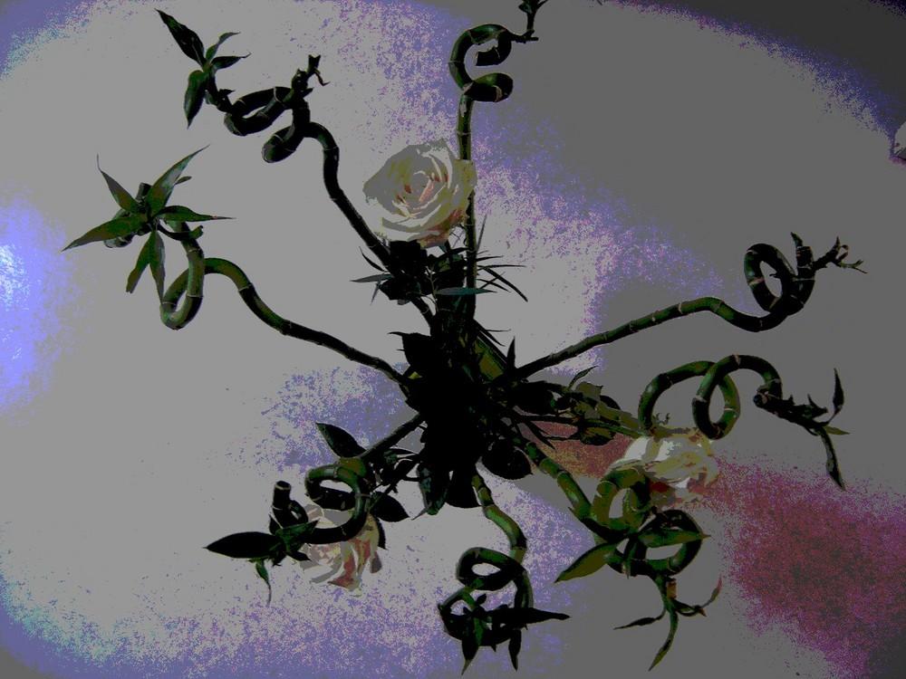 bouquet postérisé