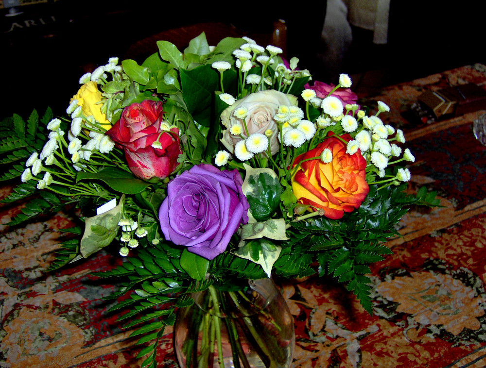 bouquet tres colorè