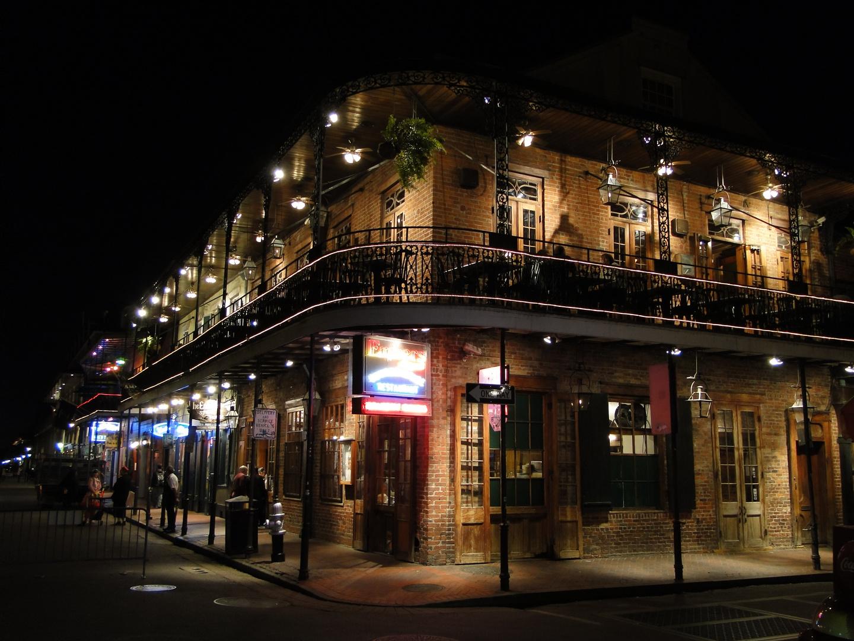 Bourbon St in New Orleans, LA..