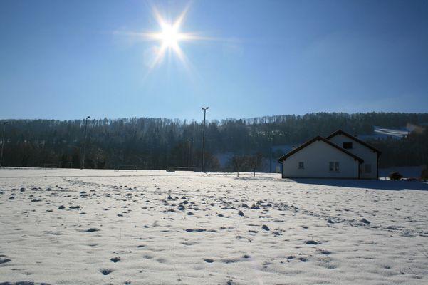 Bourrignon, dans la neige