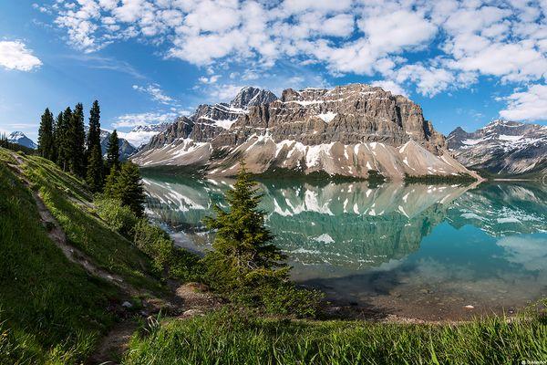 Bow Lake and Mount Thompson