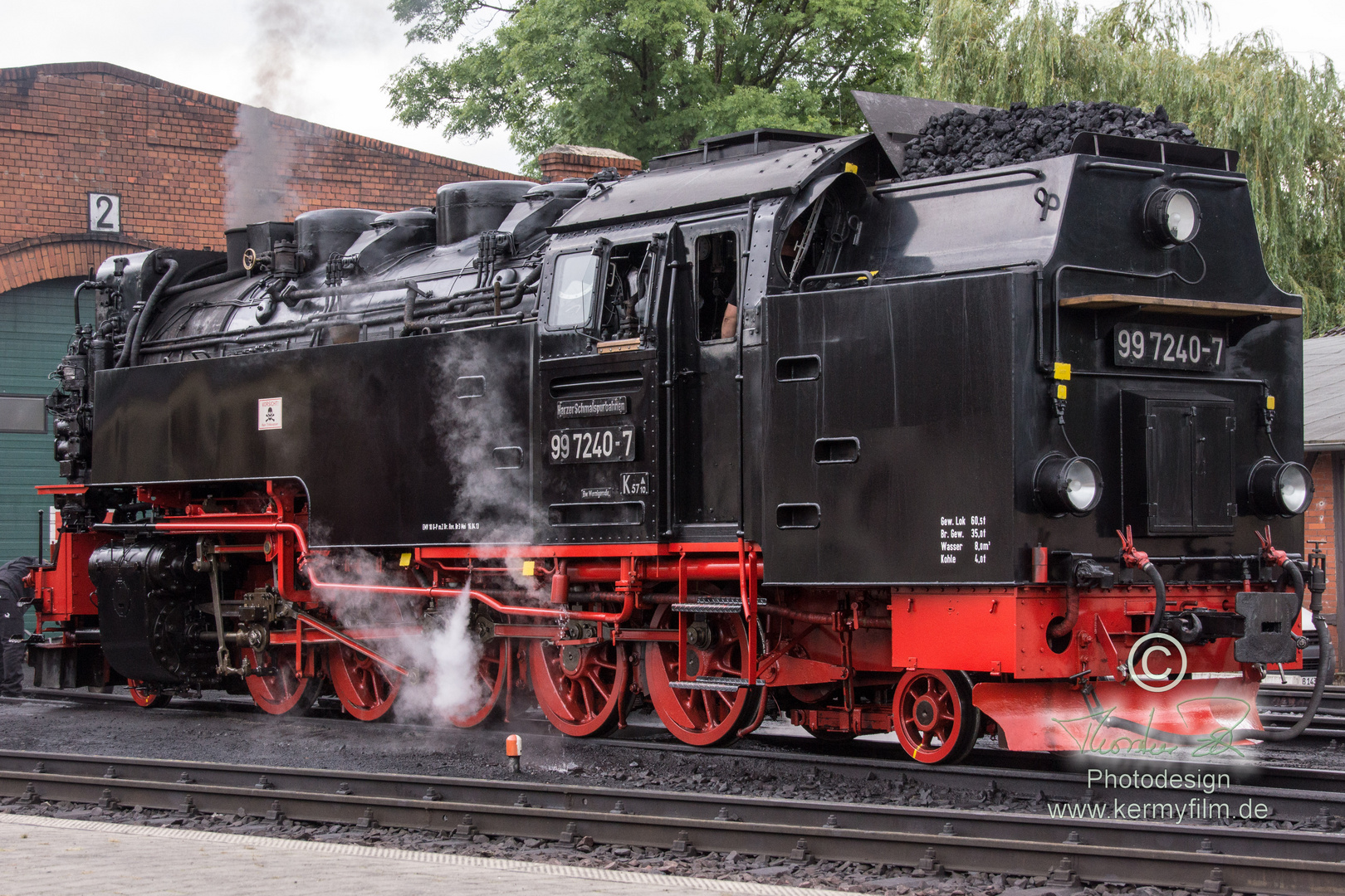 BR 99  am Betriebswerk Gernrode