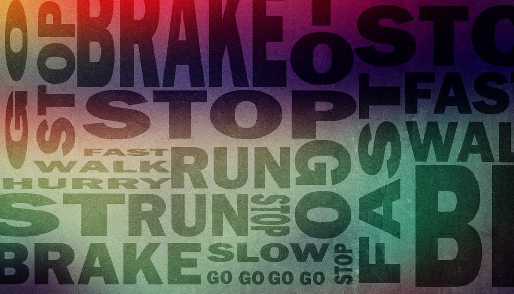 brake or stop