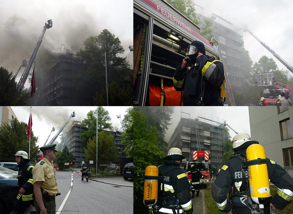 Brand in einem Seniorenheim...