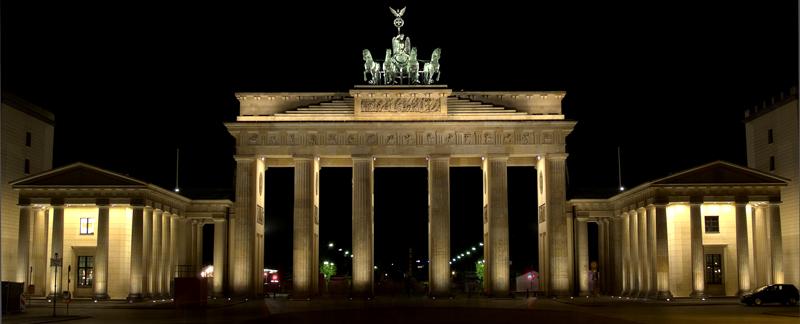 Brandburger Tor bei Nacht
