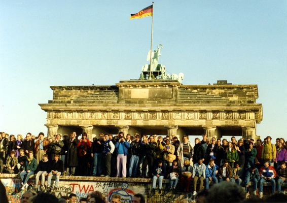 Brandenburger Tor am 10. November 1989