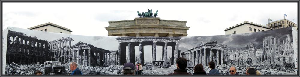 Brandenburger Tor - gestern und heute