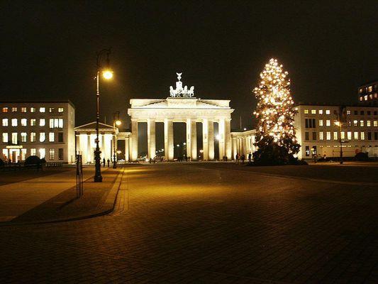 Brandenburger Tor vor Weihnachten