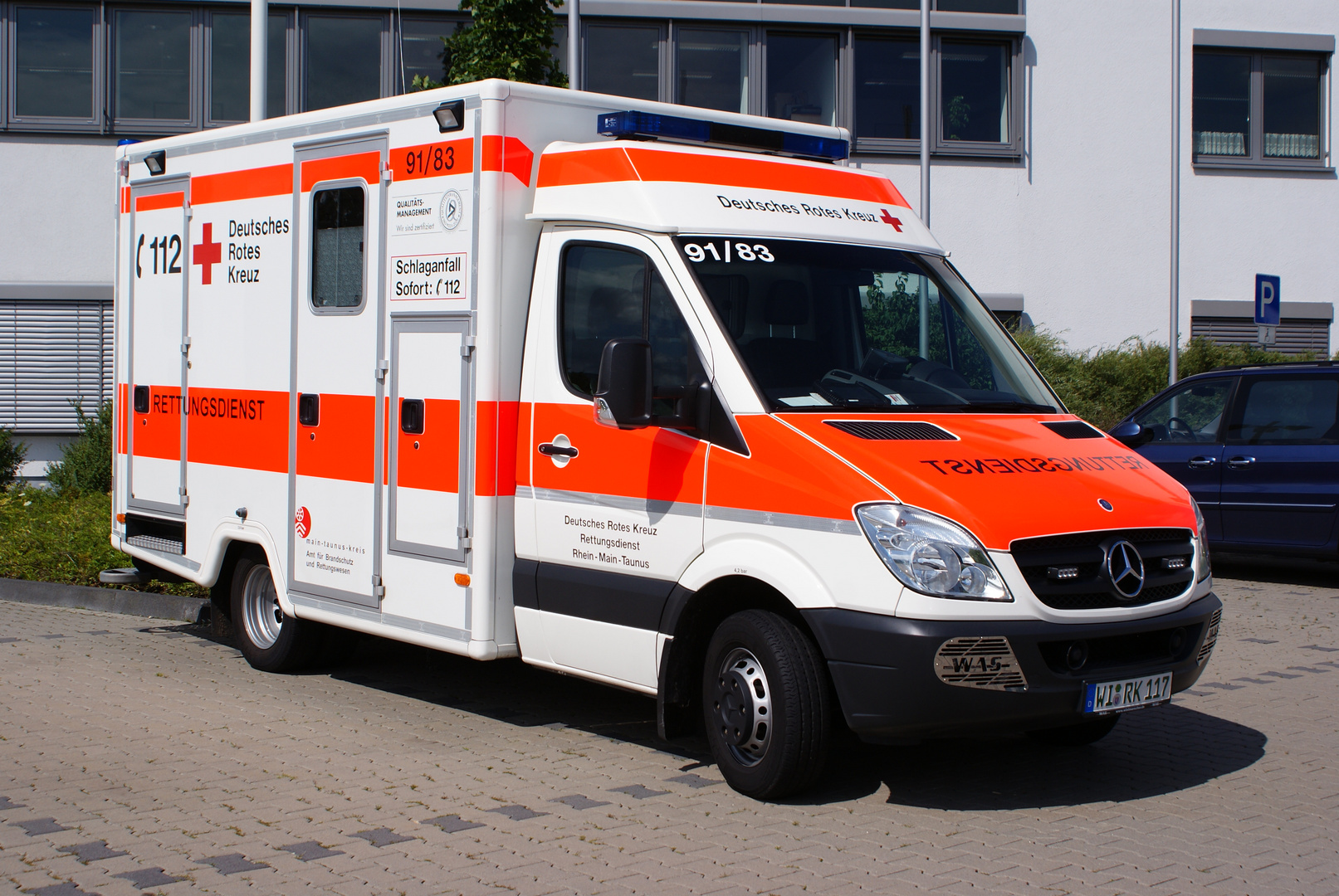 Brandneuer Rettungswagen