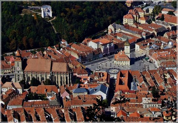 Brasov old center landscape