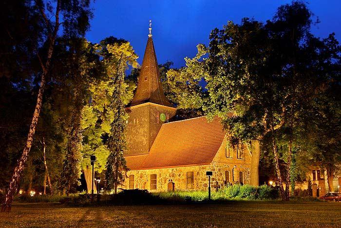 brass-coloured church
