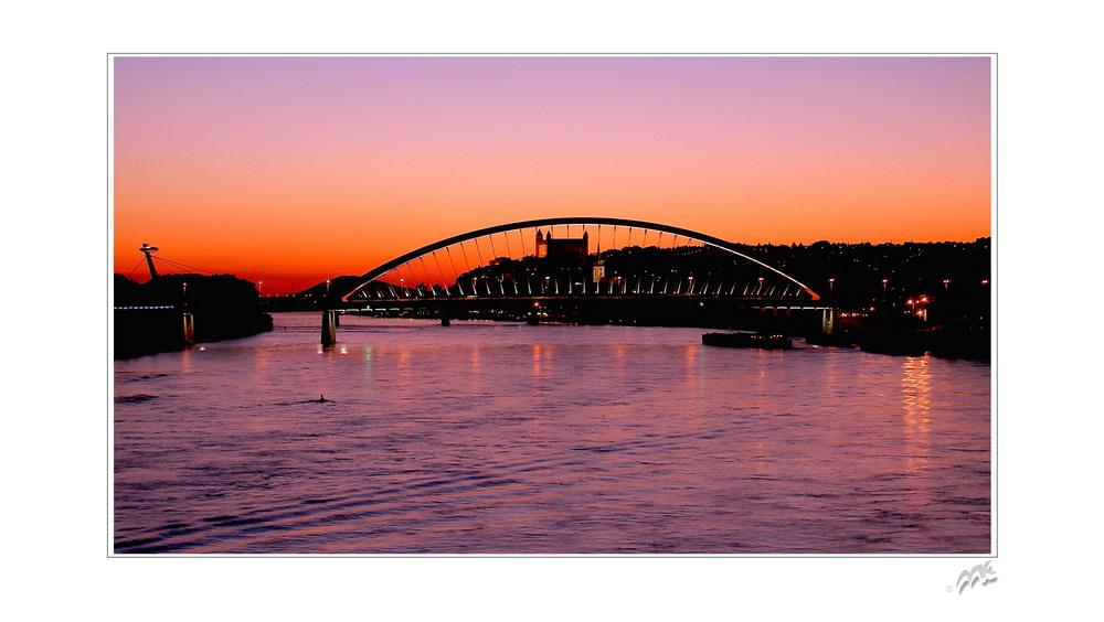 Bratislava after sunset