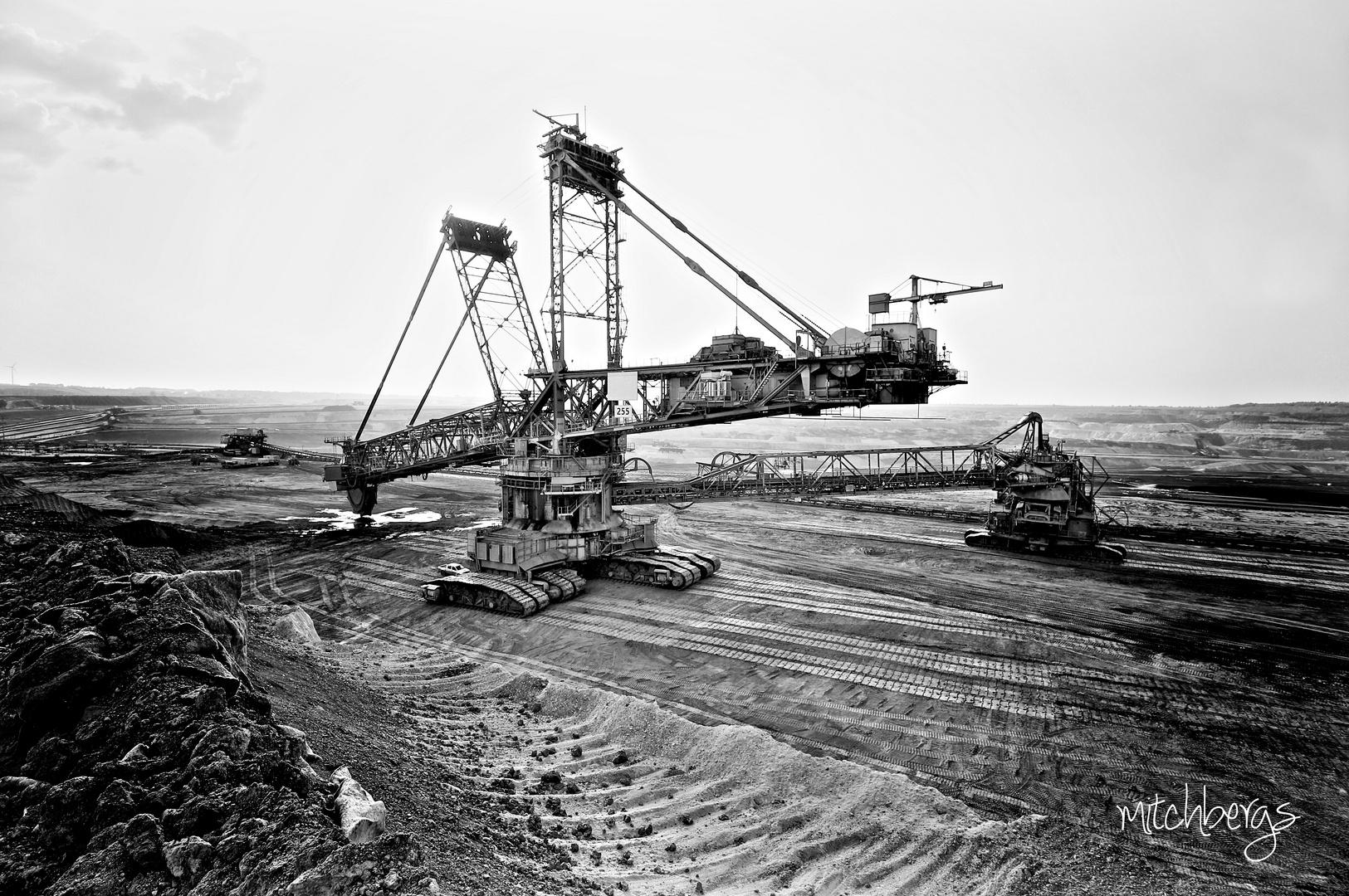 Braunkohleabbau im Tagebau Inden