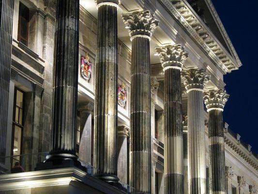 Braunschweiger Schloss - Säulen über dem Haupteingang