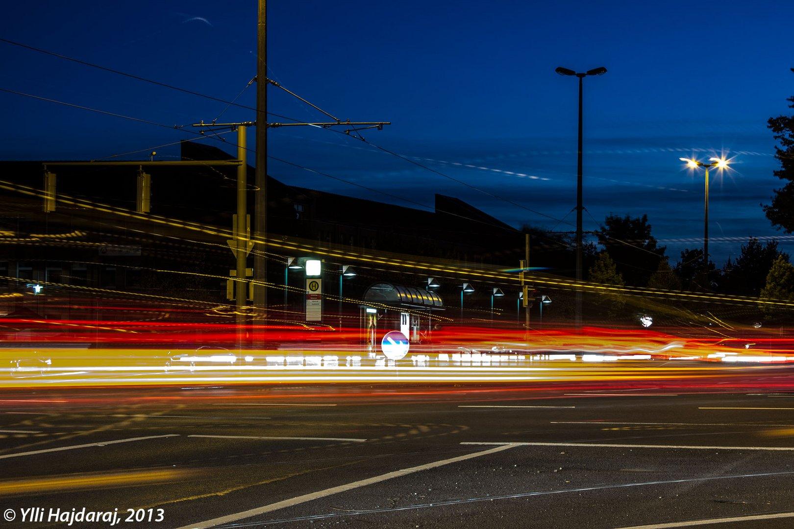 Braunschweiger Stadtverkehr am Abend