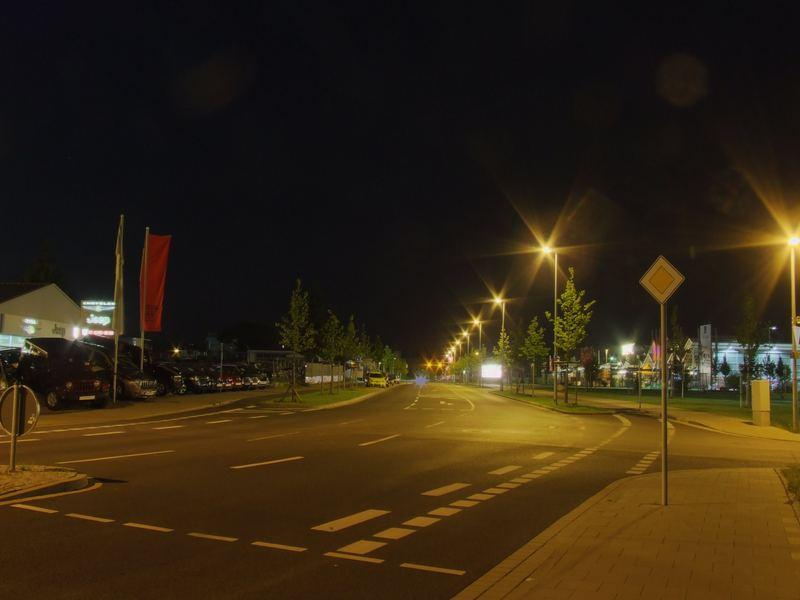 Braunschweigs Straßen bei Nacht