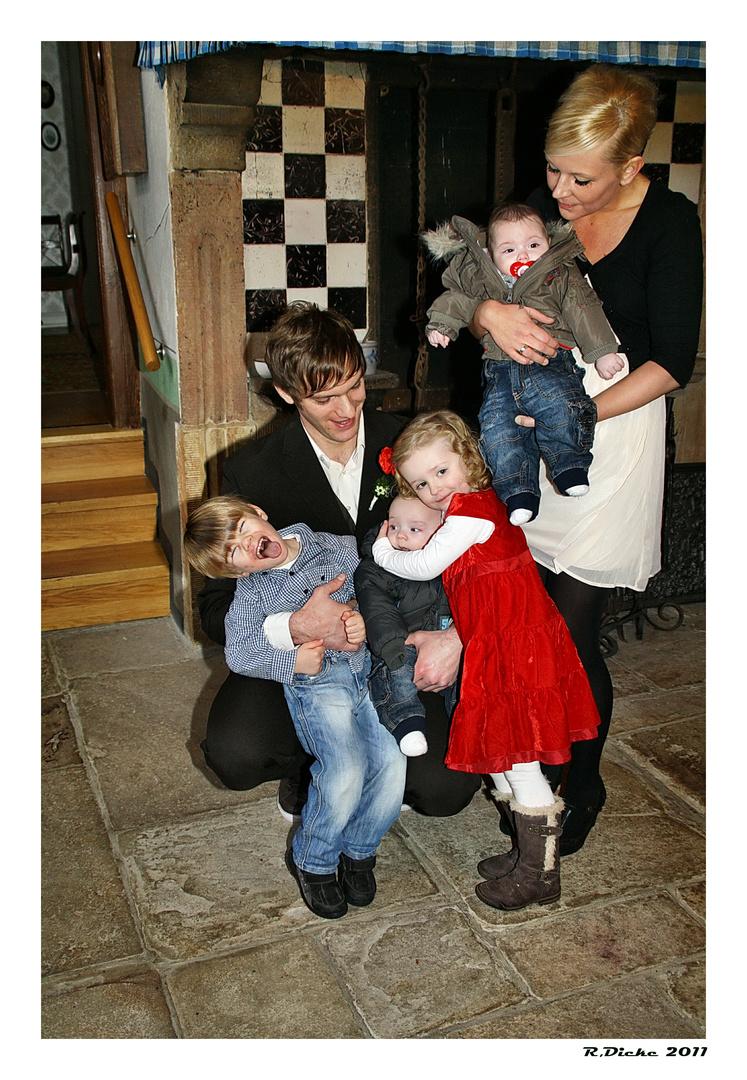 Braurpaar mit Kinder
