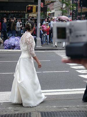 Braut auf dem Broadway