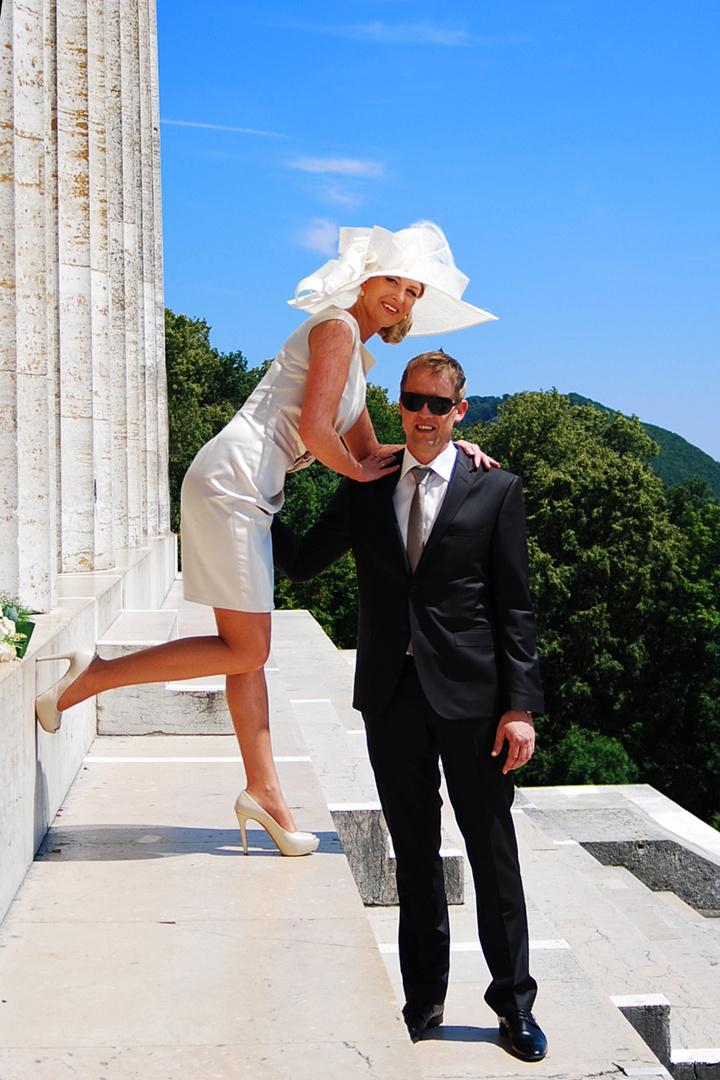 Braut mit Hut die 2