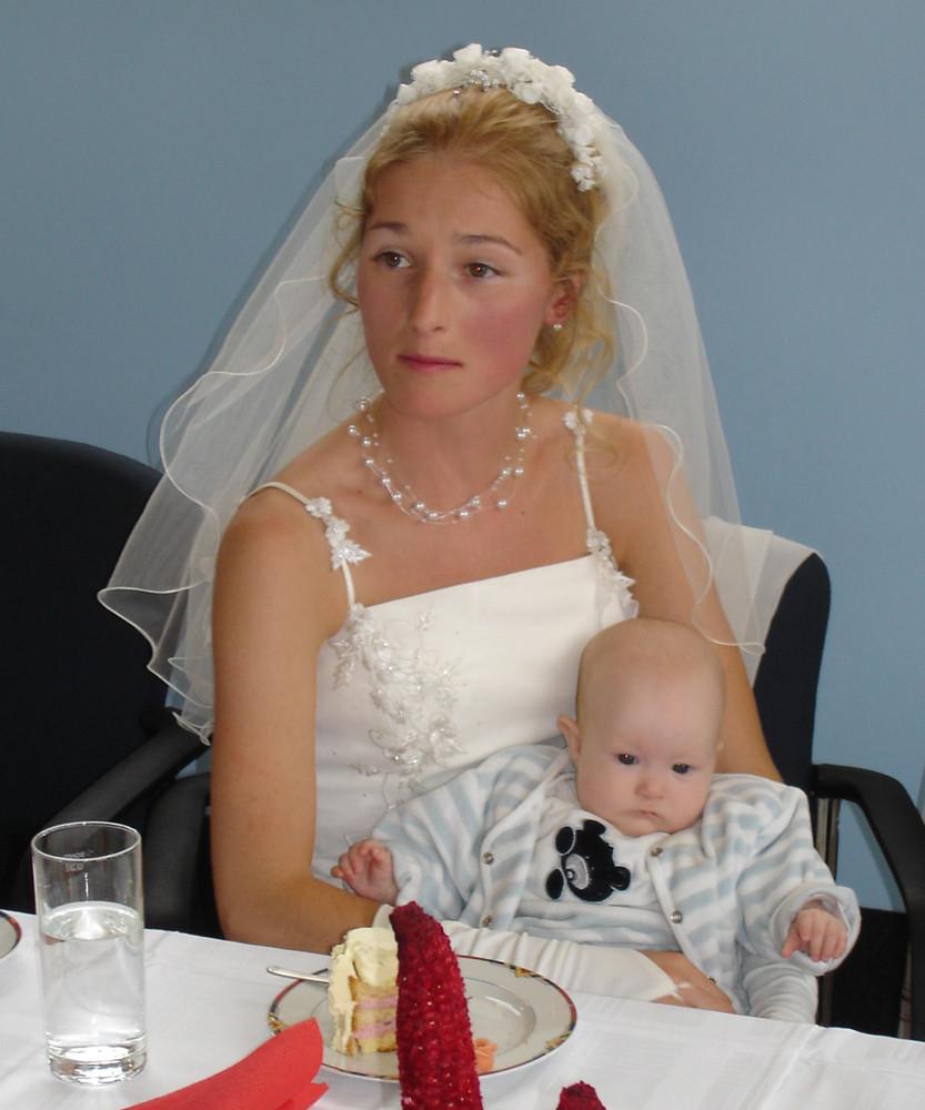 Braut und Nichte