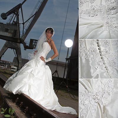Brautmode in ungewöhnlichem Kontext - Gesellenprüfung Teil 3