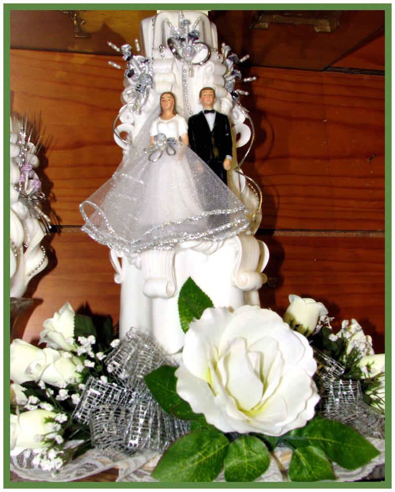 Brautpaar als Kerze