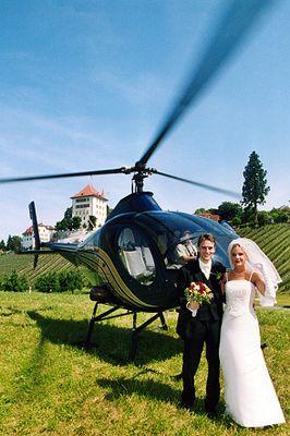 Brautpaar ging in die LUFT