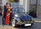 Brautpaar und ein schöner Wagen VW Käfer-Cabriolet 1303LS Baujahr 1973