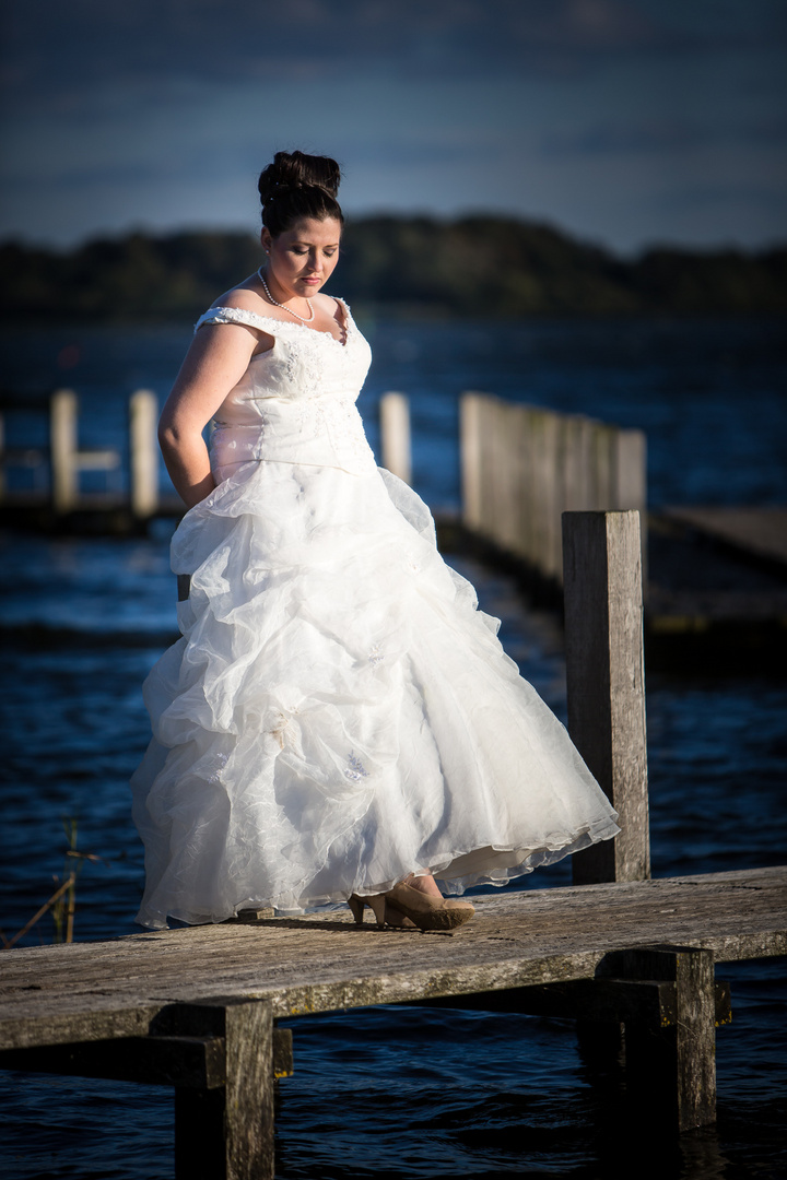 Brautpaarshooting bei 11 Grad und stürmischen Böen