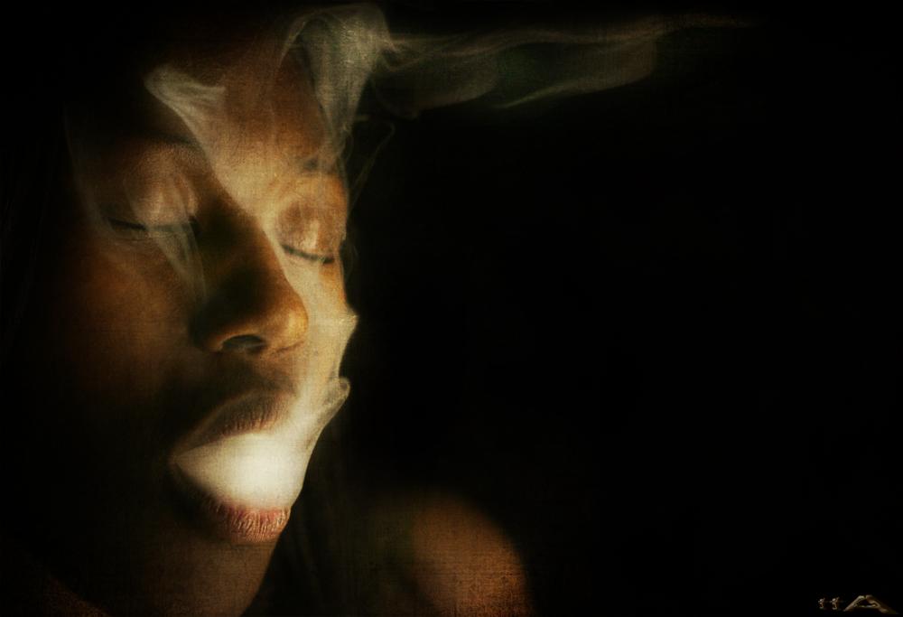 ... breathing in fumes ...