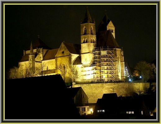 Breisacher Münster bei Nacht
