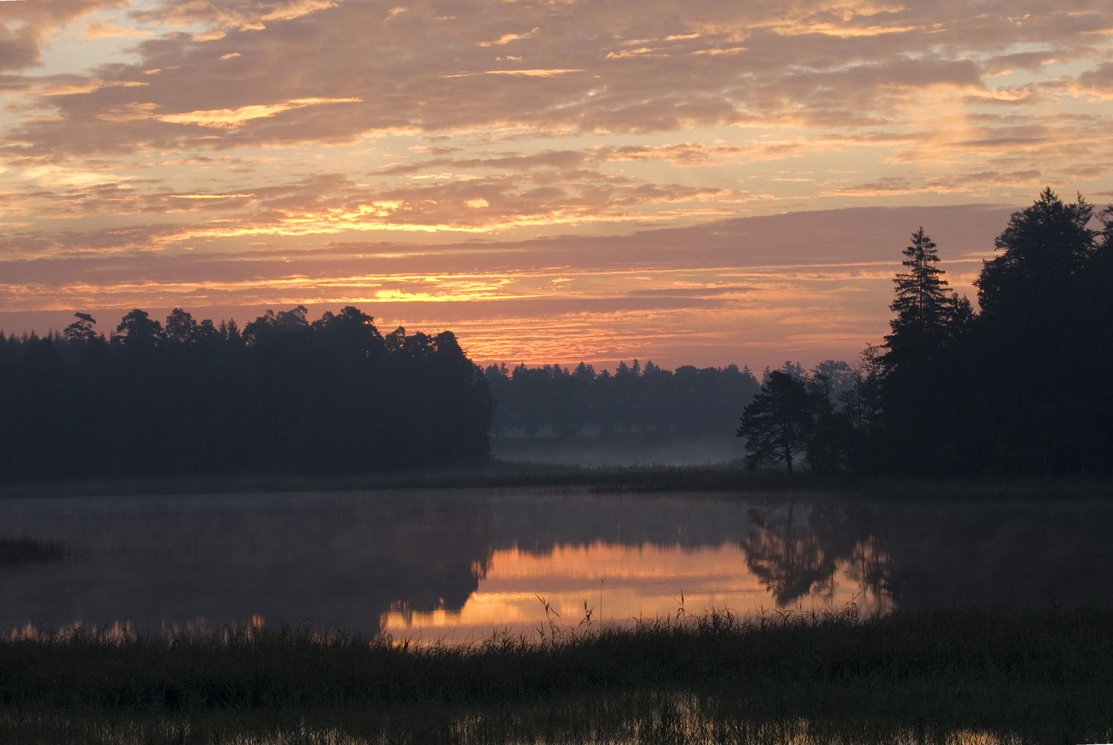 Breitenauer See im Morgenlicht