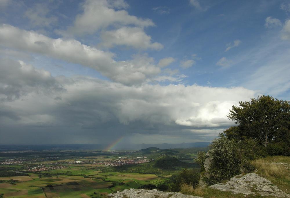 Breitenstein mit Regenbogen