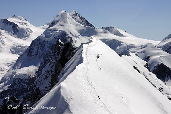Breithorn centrale e gruppo del Monte Rosa