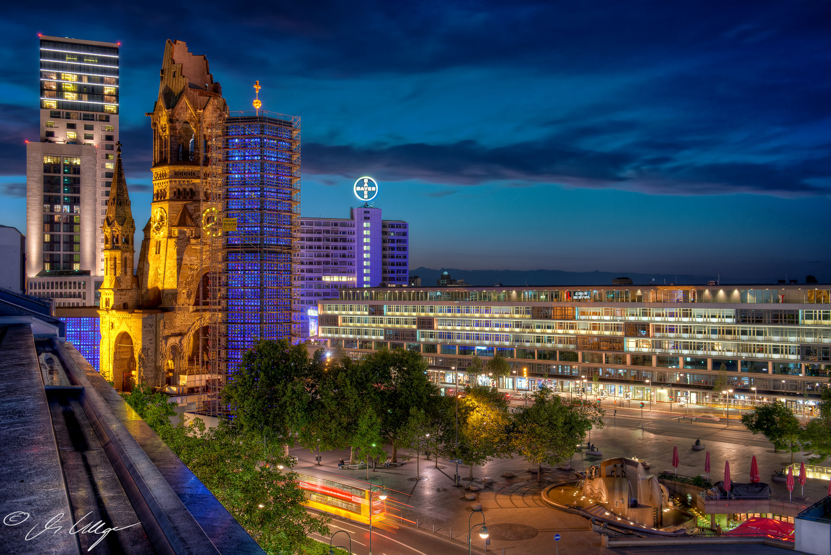 Breitscheidplatz am Abend