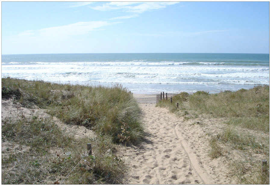 Brem-sur-Mer (Vendée) : marée montante...