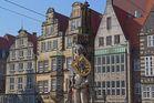 Bremen. Der Roland auf dem Marktplatz in Bremen