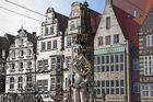 Bremen. Der Roland auf dem Marktplatz in Bremen im Zeitverlauf