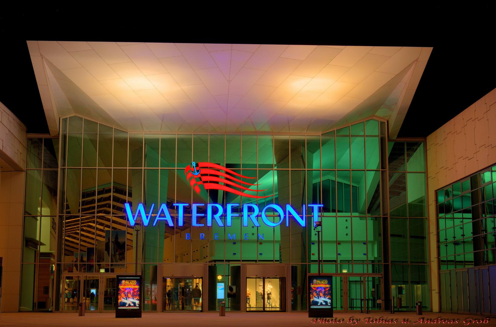 -Bremen Nightview Waterfront-